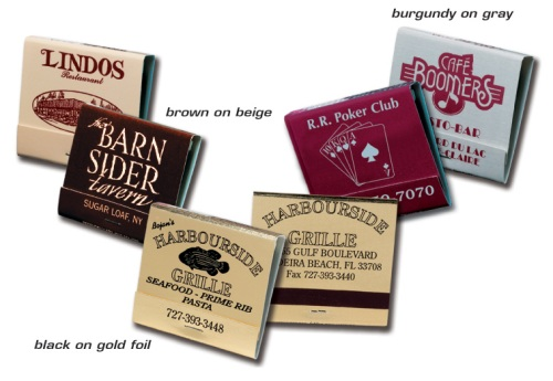 personalized printed Matchbooks in various cover options