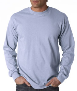 Long Sleeve T-Shirt in Light Blue