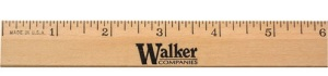 Personalized 6-inch Clear Lacquer Beveled Wood Ruler