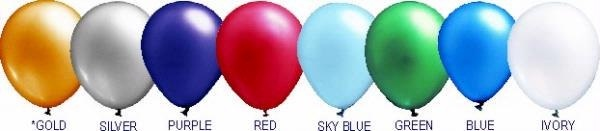 Metallic Balloon Colors