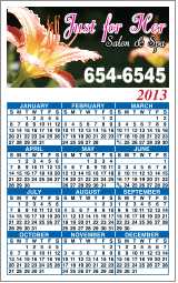 Personalized Kitchen Calendar magnet, 3 1/2 in x 6 in