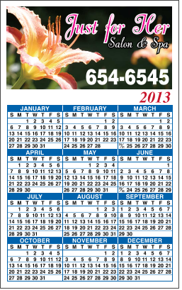 Personalized Calendar Magnet with Customized Message