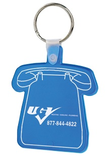 Custom Imprinted Telephone Key Fobs
