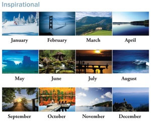 Custom Imprinted Inspirational Monthly Scenes of 2013 Appointment Calendar
