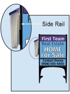Display of Real Estate Brochure Box on Sign Frame