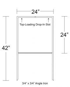 "Details of 24"" x 24"" Drop In H Frames"