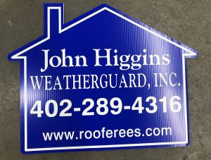 Die Cut House Shaped Realtor Sign