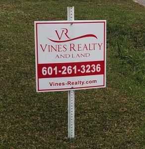 Double Faced Real Estate Sign