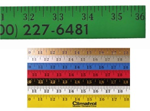 Wooden Rulers and Yardsticks - Customized Enamel Finish Customized Yardstick