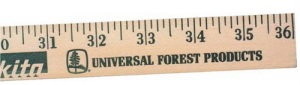 Wooden Rulers and Yardsticks - Clear Lacquer Finish Promotional Yardstick with Custom Imprint