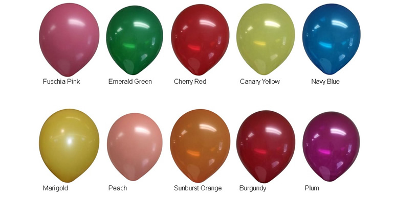 11-inch Decorator Latex Balloon Colors