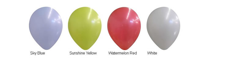 14-inch Decorator Latex Balloon Colors