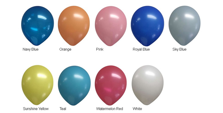 9-inch Decorator Latex Balloon Colors