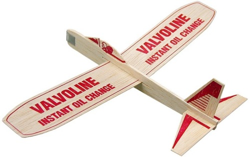12-inch Balsa Wooden Airplanes with customized message
