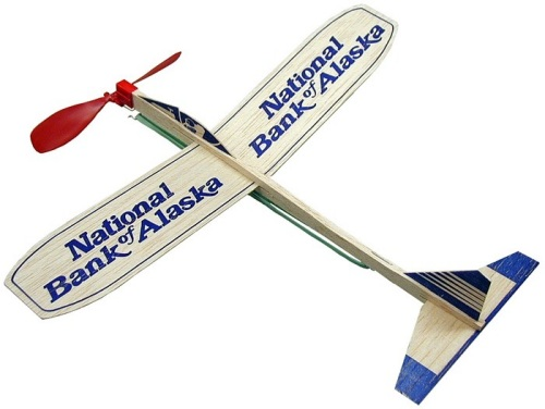 Personalized 12-inch Balsa Wood Motor Airplanes